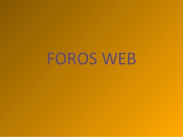 FOROS WEB