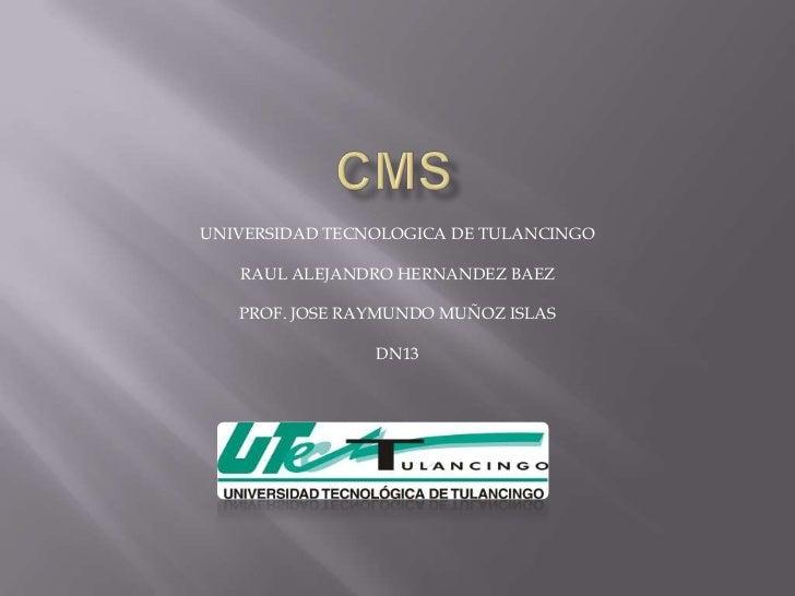UNIVERSIDAD TECNOLOGICA DE TULANCINGO   RAUL ALEJANDRO HERNANDEZ BAEZ   PROF. JOSE RAYMUNDO MUÑOZ ISLAS                DN13