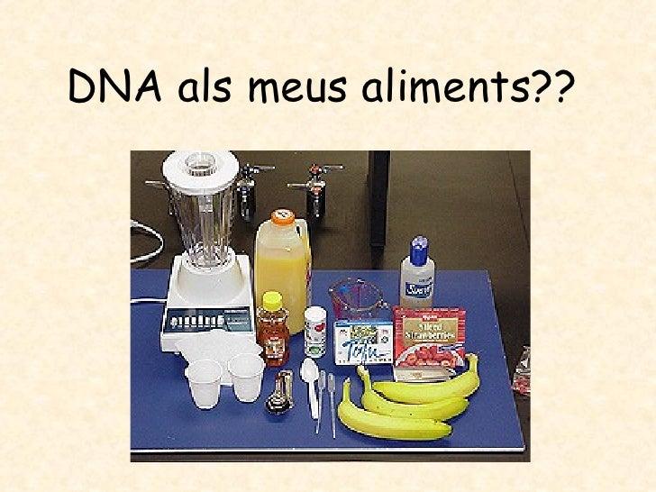 DNA als meus aliments??
