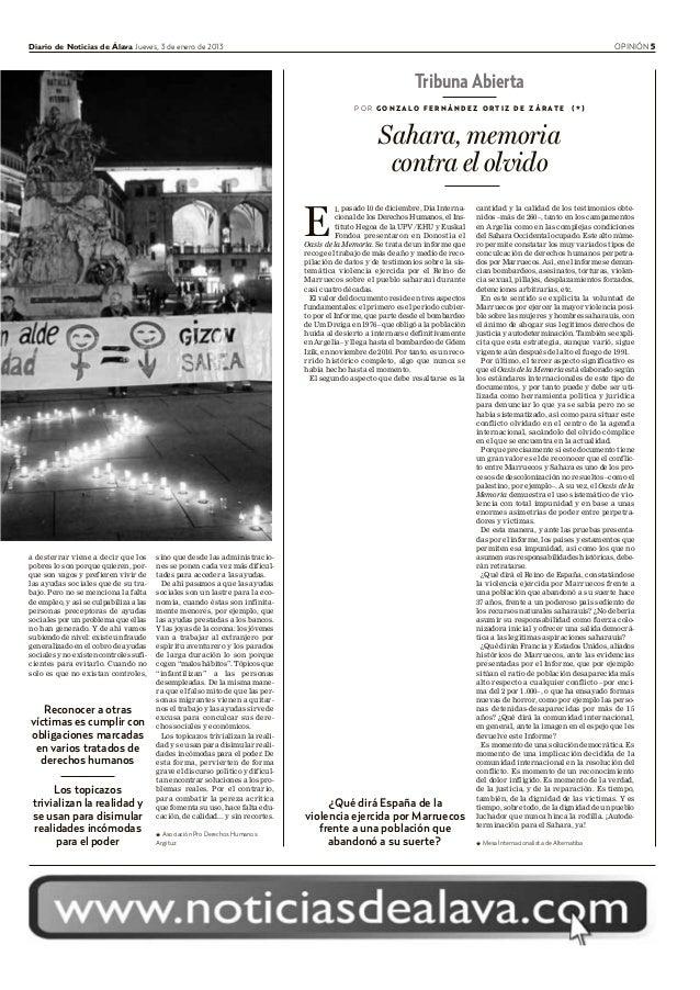 Topicos que inciden sobre los derechos humanos.Diario Noticias Alava Slide 2