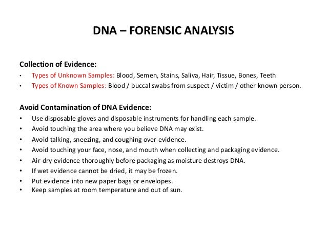 evidence collection and analysis
