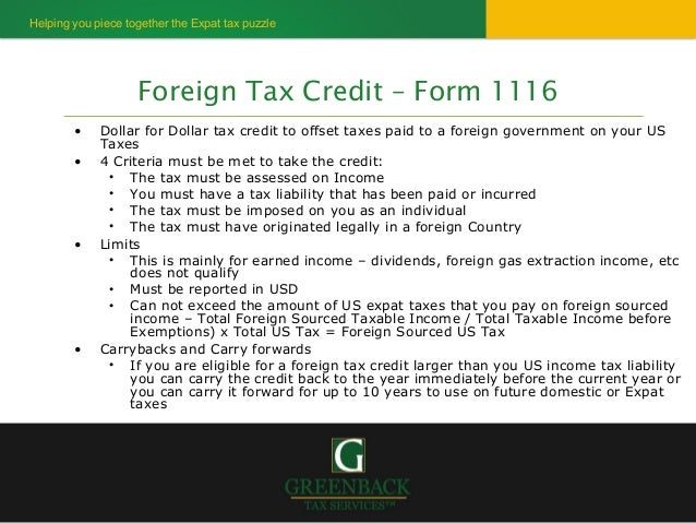 Most important tax info for US expats 2013