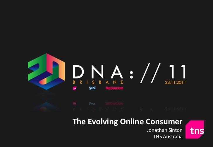 The Evolving Online Consumer                  Jonathan Sinton                     TNS Australia