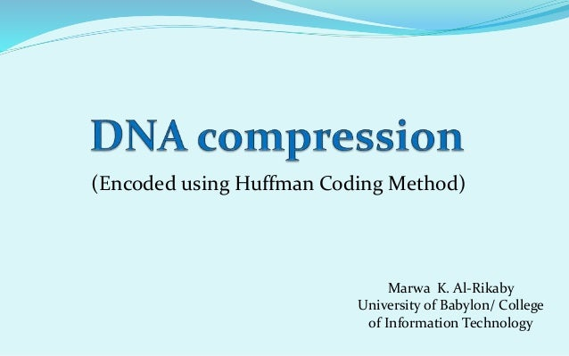 Dna compression thesis