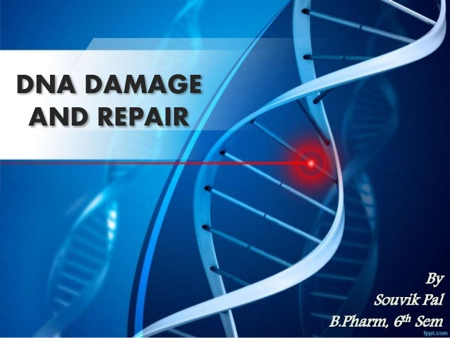 DNA DAMAGE AND REPAIR By Souvik Pal B.Pharm, 6th Sem