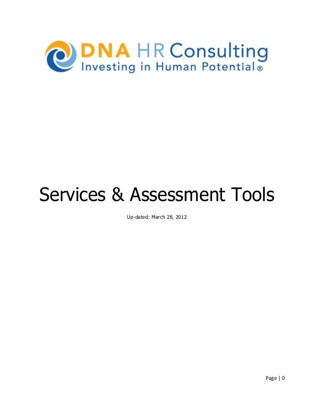 Services & Assessment Tools          Up-dated: March 28, 2012                                     Page | 0