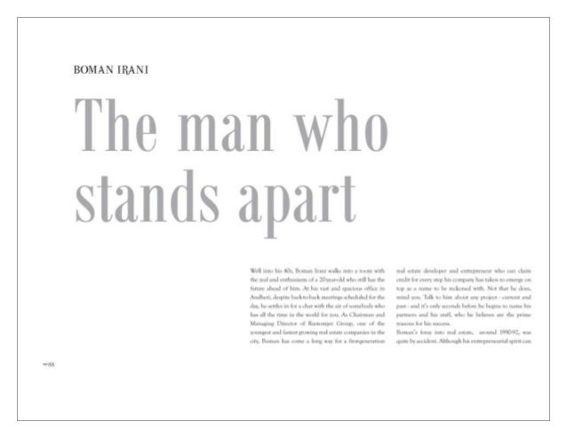 DNA's Realty Gen next coffee table book features Mr. Boman R Irani, CMD, Rustomjee