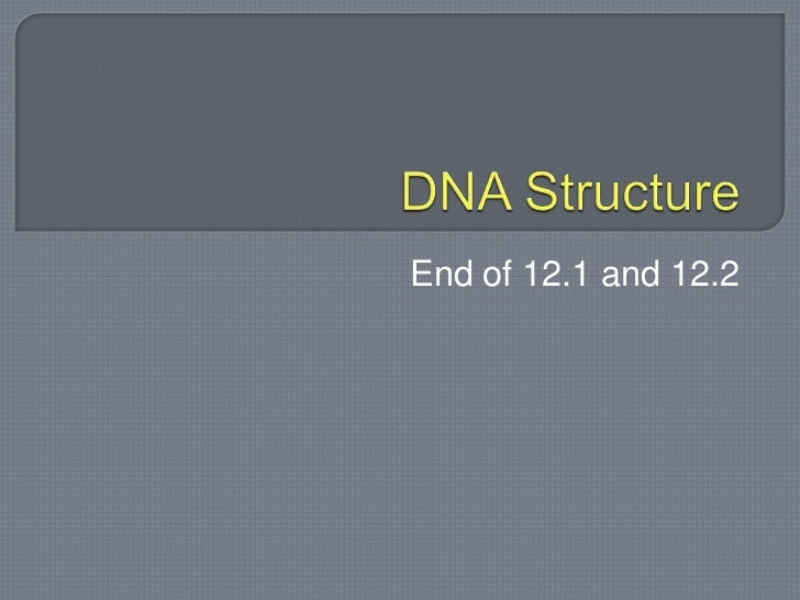 Dna structure 12.1 and 12.2 students