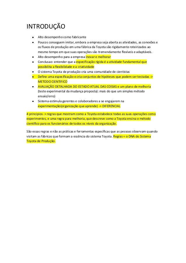 INTRODUÇÃO       Alto desempenho como fabricante       Poucos conseguem imitar, embora a empresa seja aberta as atividades...