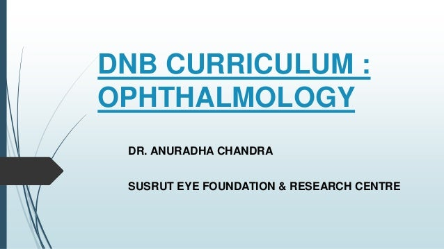 Dnb ophthalmology thesis
