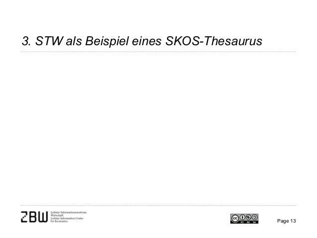3. STW als Beispiel eines SKOS-Thesaurus Page 13