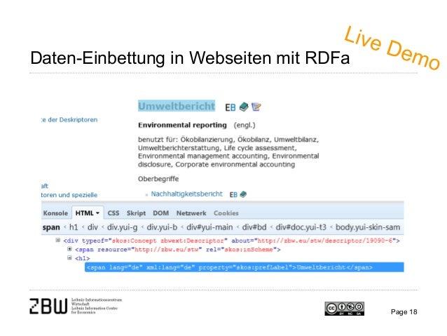 Page 18 Daten-Einbettung in Webseiten mit RDFa