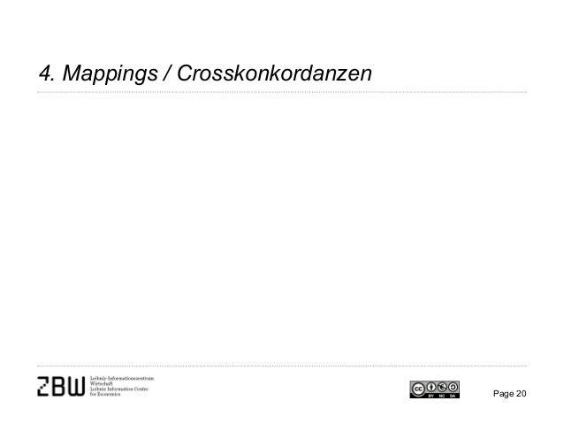 4. Mappings / Crosskonkordanzen Page 20