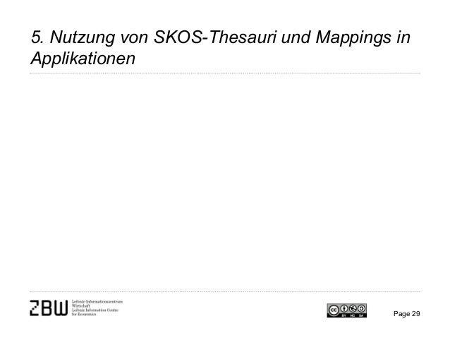 5. Nutzung von SKOS-Thesauri und Mappings in Applikationen Page 29