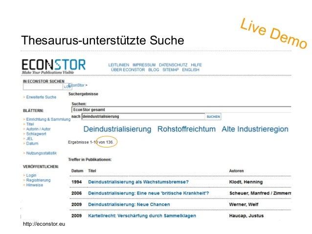 Thesaurus-unterstützte Suche Page 32 http://econstor.eu