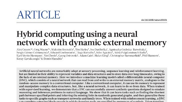 Differentiable Neural Computer Slide 3