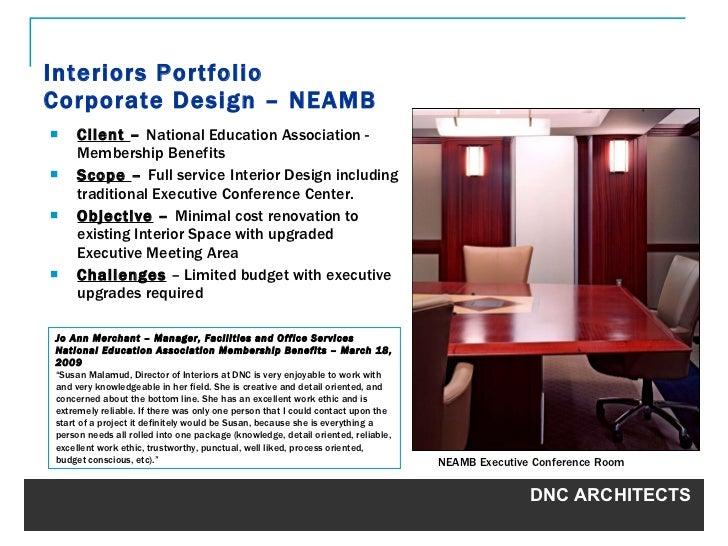 Interiors Portfolio Corporate Design