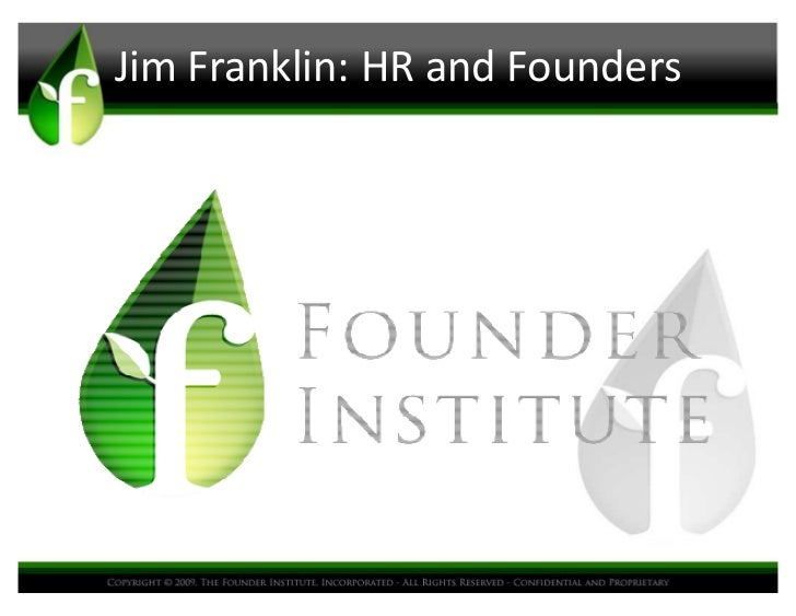 Jim Franklin: HR and Founders