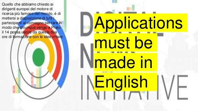Marco Renzi Google Dni #digit19 Pin Prato 14-15 marzo  Slide 3