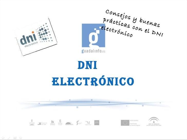 DNI  electrónico Consejos y buenas prácticas con el DNI electrónico