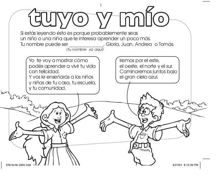 Tuyo Y Mío Un Libro Para Colorear