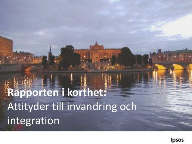 I korthet invandrare