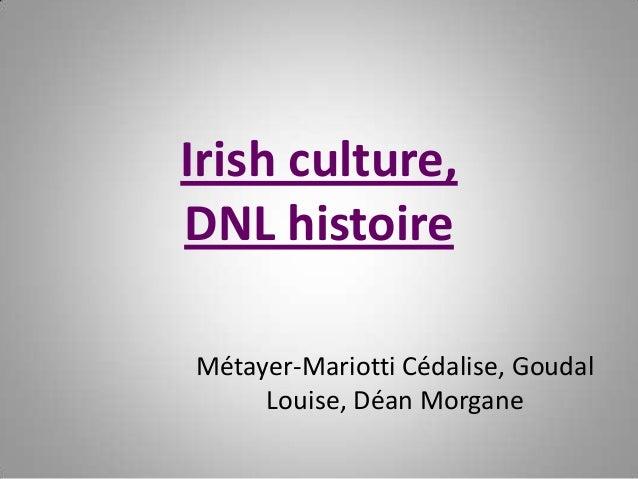 Irish culture, DNL histoire Métayer-Mariotti Cédalise, Goudal Louise, Déan Morgane
