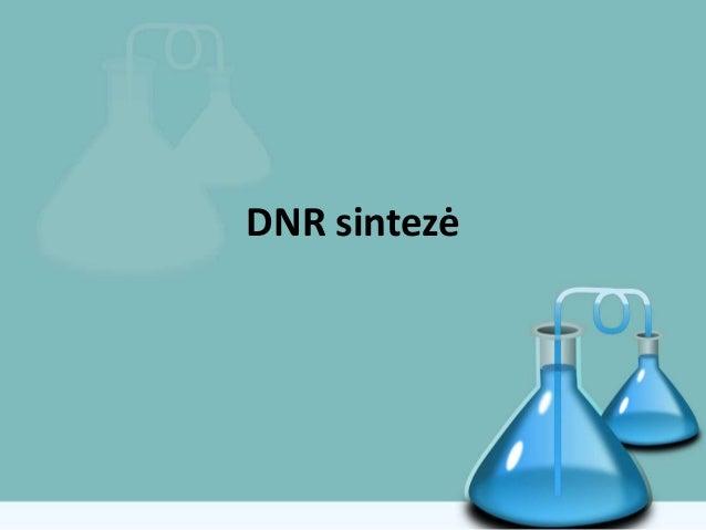 DNR sintezė
