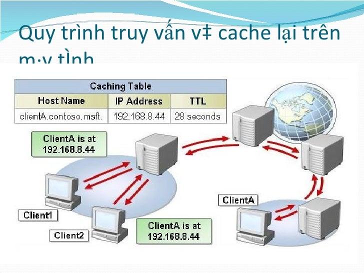 Quy trình truy vấn và cache lại trên máy tính