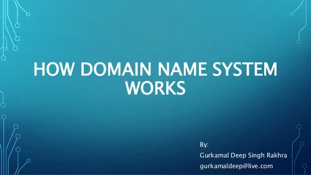HOW DOMAIN NAME SYSTEM  WORKS  By:  Gurkamal Deep Singh Rakhra  gurkamaldeep@live.com