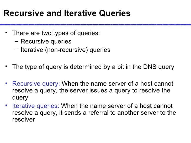 what is the difference between recursive and iterative queries