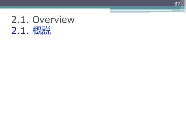872.1. Overview2.1. 概説