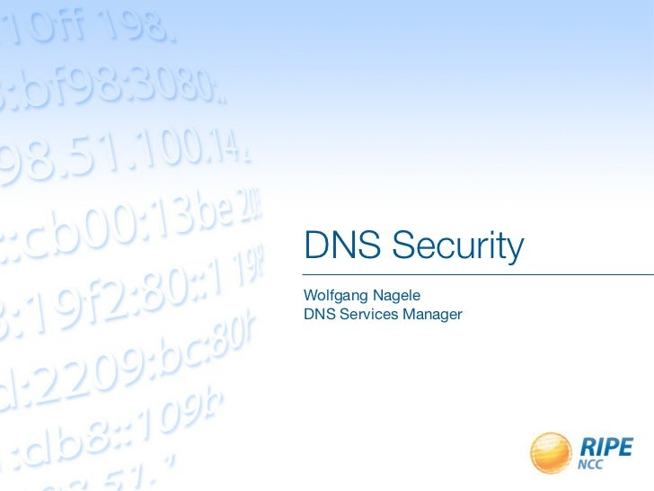 DNS SecurityWolfgang NageleDNS Services Manager
