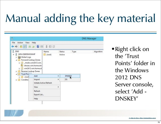 Windows 2012 and DNSSEC