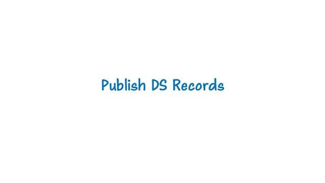 Publish DS Records