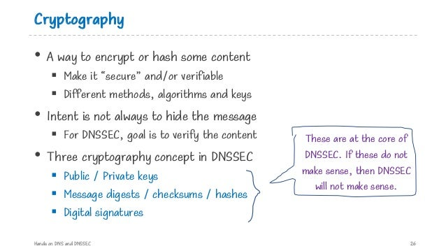 """Cryptography • A way to encrypt or hash some content § Make it """"secure"""" and/or verifiable § Different methods, algorithms ..."""