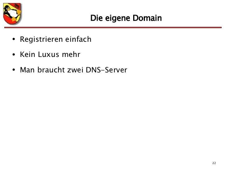Eigene Domain einführung in domain name system dns und bind