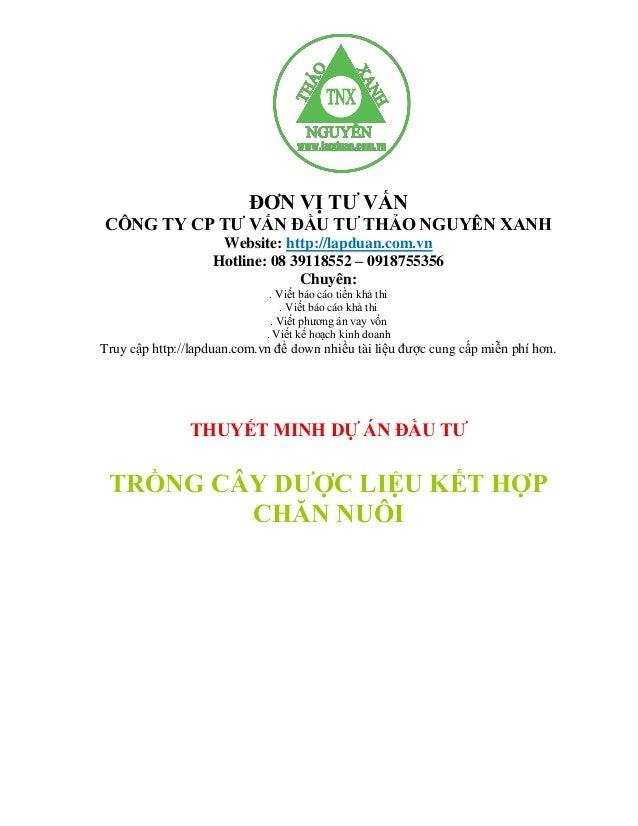 ĐƠN VỊ TƢ VẤN CÔNG TY CP TƢ VẤN ĐẦU TƢ THẢO NGUYÊN XANH  Website: http://lapduan.com.vn Hotline: 08 39118552 – 0918755356 ...