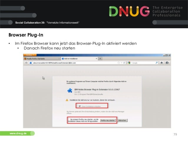 "Social Collaboration 39: ""Vernetzte Informationswelt""  Browser Plug-In   •  Im Firefox Browser kann jetzt das Browser-P..."