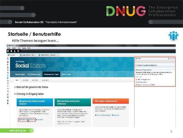"""Social Collaboration 39: """"Vernetzte Informationswelt""""  Startseite / Benutzerhilfe   Hilfe  Themen  bezogen  lesen...."""
