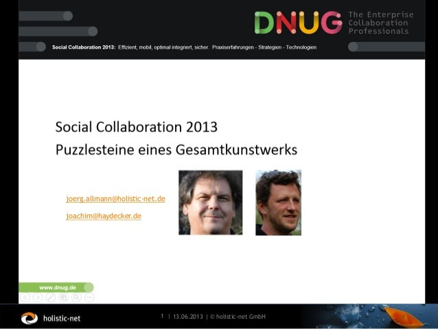 13.06.20131 | | © holistic-net GmbHallmannjoerg.allmann@holistic-net.dejoachim@haydecker.de
