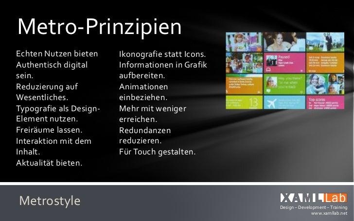 Designing MetroKonsistente UX durch   Schnell und flüssig:konsequente            Interaktion undAnwendung des          Ani...