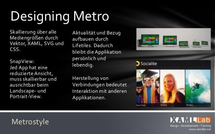 Designing MetroBei Strukturen und      Die Tool und TemplatesRaster helfen           helfen bei derentsprechende Grids.   ...
