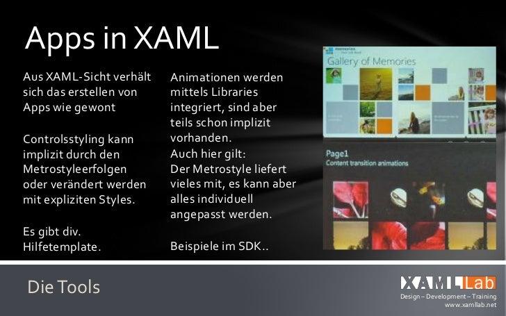 Blend im VS 2011Aus Blend für die UI-     Erweiterungen on Top:Bearbeitung integriert:   Template-PreviewSplit-Modus      ...