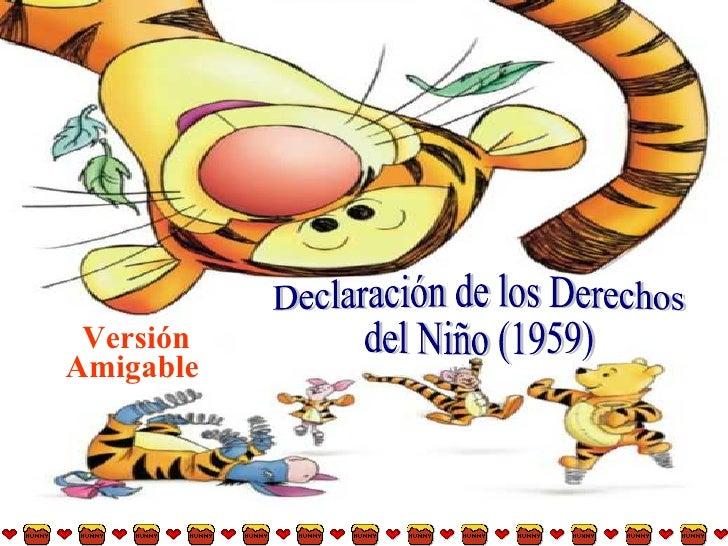 Versión Amigable   Declaración de los Derechos del Niño (1959)