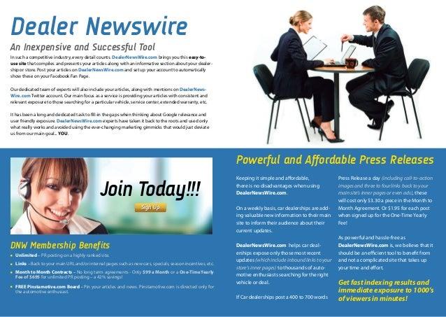 new car dealership press releasePress Release Distribution New Jersey  Dealer News Wire