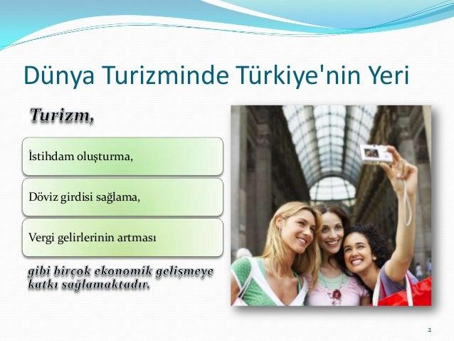 Dünya turizminde türkiyenin yeri Slide 2