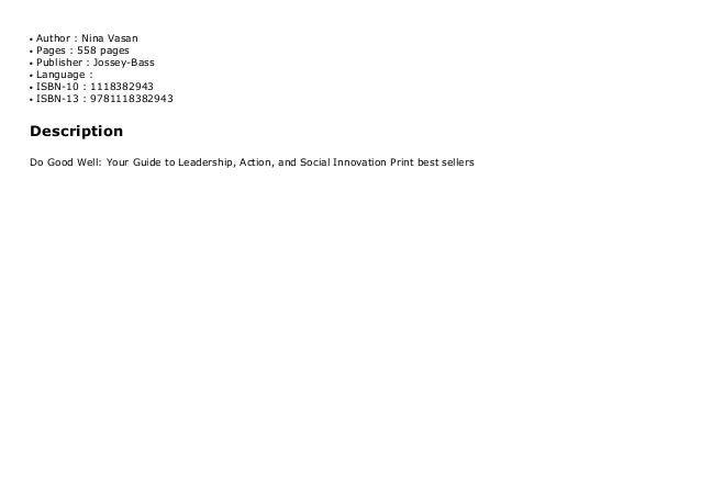 Author : Nina Vasanq Pages : 558 pagesq Publisher : Jossey-Bassq Language :q ISBN-10 : 1118382943q ISBN-13 : 9781118382943...