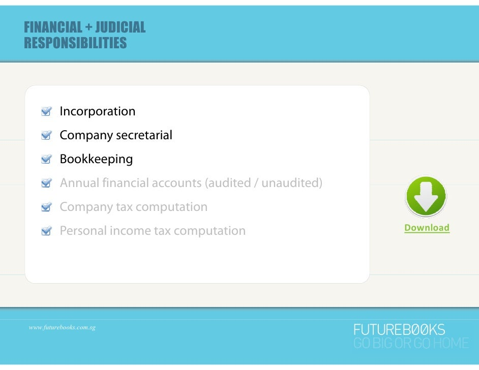 Diy bookkeeping for start up companies in singapore part 1 of 2 4 financial judicialresponsibilities incorporation company secretarial p y bookkeeping solutioingenieria Images