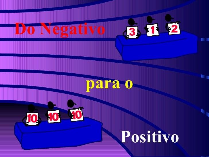Do Negativo para o Positivo